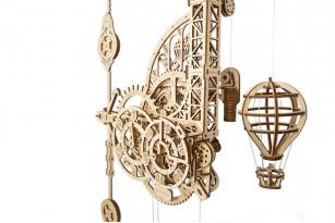 Aero Clock mechanical model kit. Wall clock with pendulum